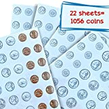 22 Sheets! 1056 US Money Coin Stickers! Realistic Dimes, Nickels, Pennies and Quarters, Highly Adhesive, Fun and Educational for Kids, Teachers and Parents By GHR Active Learning
