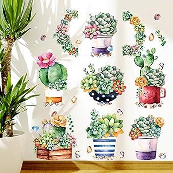 HCCY Kreative schöne Kakteen bonsai Wall Sticker wohn Zimmer ...