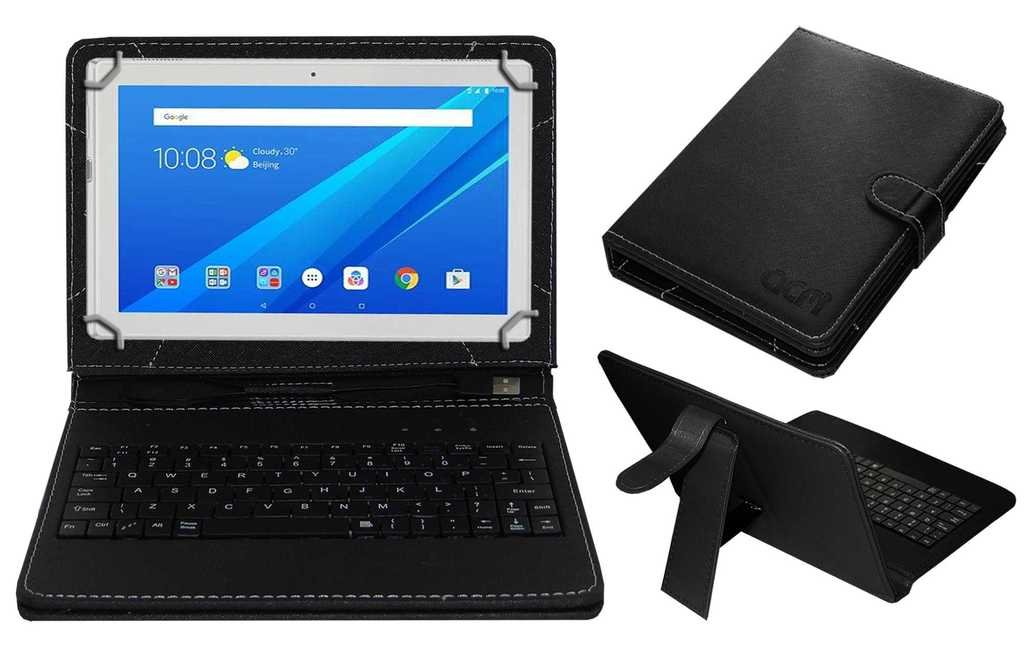 buy online fb5eb c1633 Acm USB Keyboard Case for Lenovo Tab 4 10 Tablet Cover Stand with Free  Micro USB OTG - Black