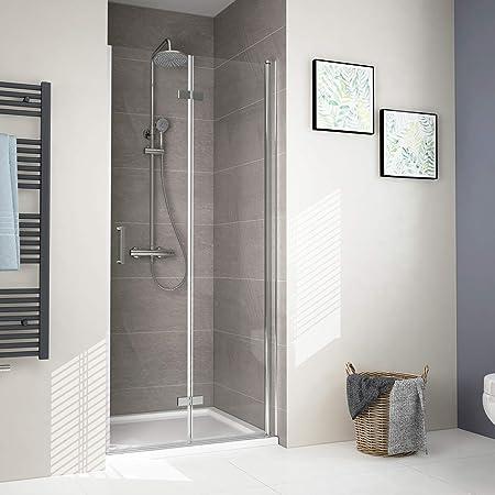 Nischentür Duschabtrennung Duschwand Dusche Falttür NANO Dusche ESG Duschkabine