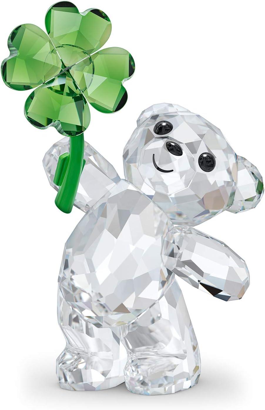 SWAROVSKI Kris Bear Lucky Charm Figurine, One Size, Green