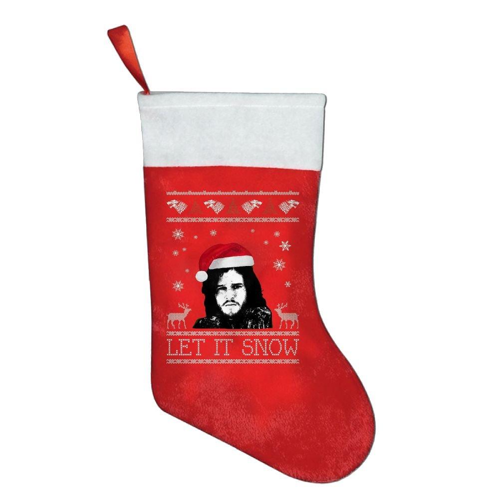 Calcetines de Navidad bolsas de regalo bolsas de regalo Let It Snow Jon nieve Juego de Tronos decoraciones de Navidad Santa Claus calcetines regalos bolsas ...