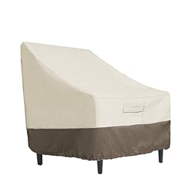 ENJOEE Patio Chair Cover Outdoor Lounge Club Chair Furniture Cover Durable and Water Resistant Standard: Kitchen & Dining