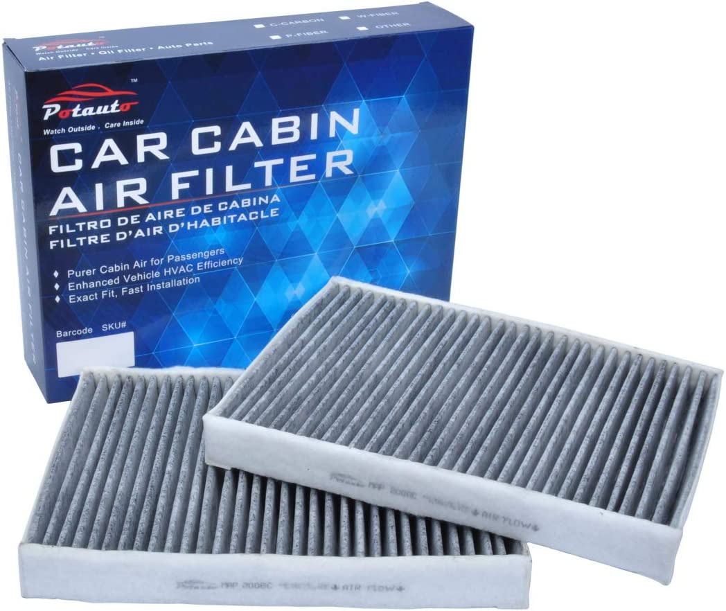 CF10369 POTAUTO MAP 2006C 500 Series Upgraded with Active Carbon Replacement Activated Carbon Car Cabin Air Filter for BMW M Series/