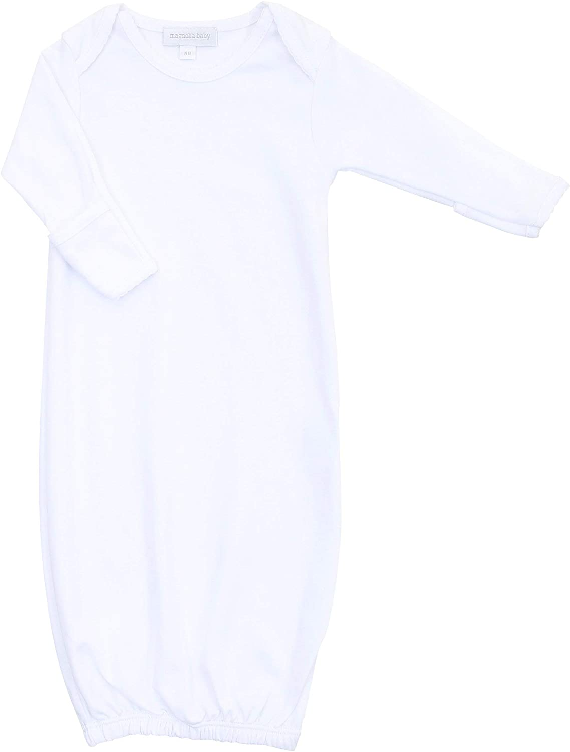 Magnolia Baby Unisex Baby Solid Essentials Lap Gown White White
