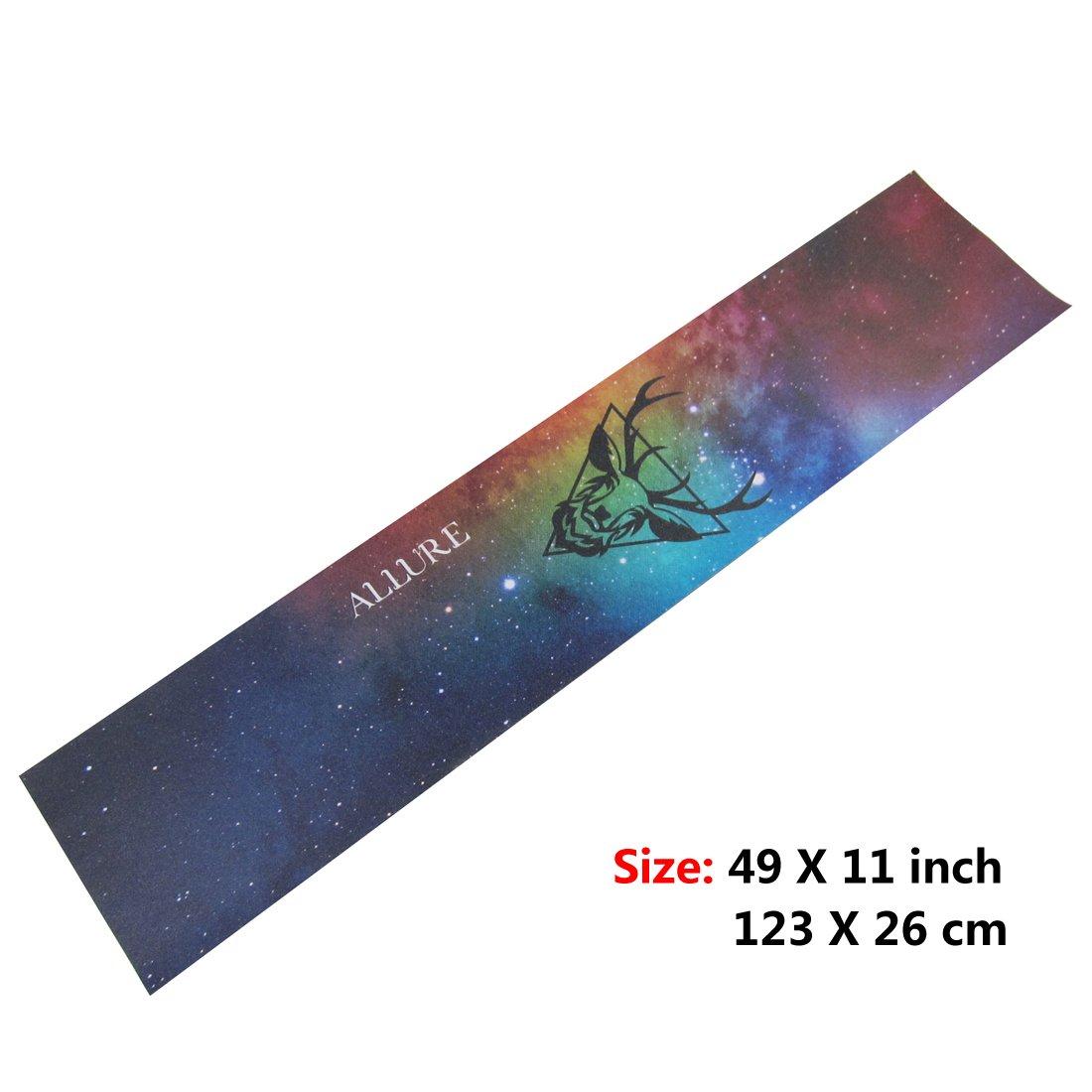 Amazon ALLURE Longboard Skateboard Grip Tape Sheet 11 X 49 Colour Sand Paper Sports Outdoors