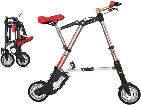 WZB Bicicletas Plegables Mini voladoras livianas, Marco de aleación de Aluminio 8