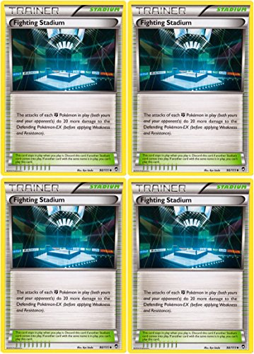 Pokemon x4 Fighting Stadium (XY Furious Fists #90/111) Card Playset [Trainer-Stadium]