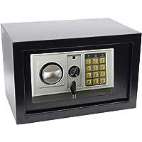Cofre Eletrônico Germane Preto/Prata 20E 20 x 31 x 20 cm