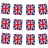 UK UNION JACK BUNTING FLAGS - GREAT FOR GARDEN PARTIES DECORATION - CHOOSE LENGTH (10m) by Red Star