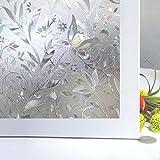 Bloss Etched Lace Window Film No Glue 3D Pattern Window Treatments Static ...