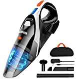 Handheld Vacuum, LOZAYI 7KPA Hand Vacuum Cordless with Stronger Cyclonic Suction,Rechargeable Li-ion Battery Quick…
