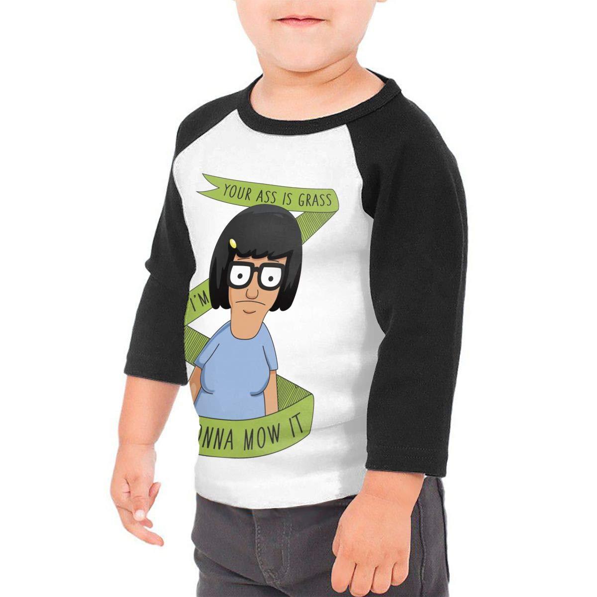 Black6Red Tina Belcher Childrens 3//4 Sleeve T-Shirt