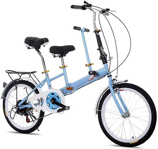 HYLH Bicicleta tándem Plegable de 20