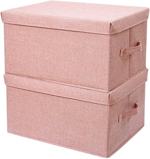 Caja almacenaje Caja de almacenamiento grande con tapa, la cesta ...