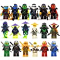18 pcs Minifigures Set Jay Cole Lloyd Kai Nya Zane fits Lego by PlayFun KiDz