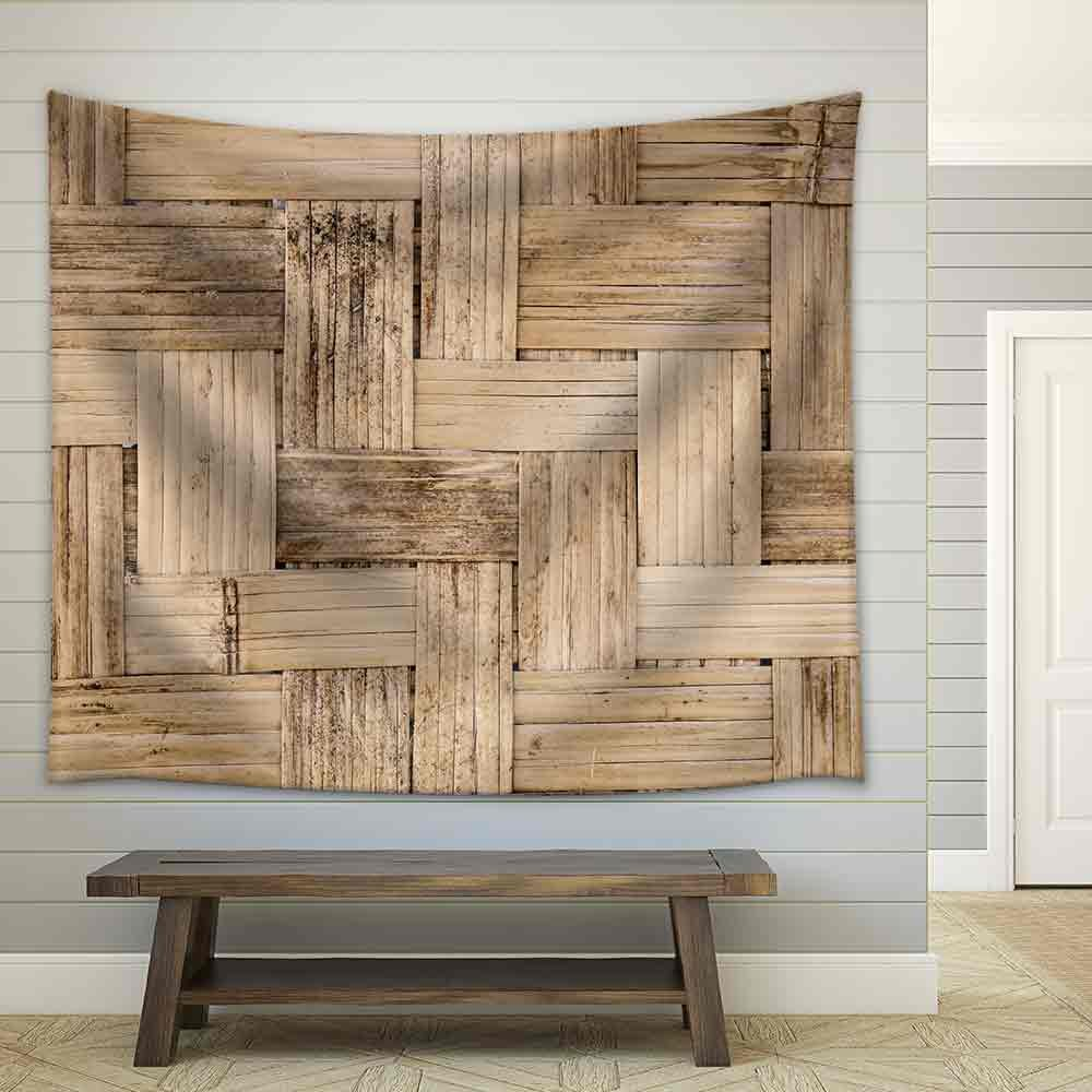 wall26 - Thai Bamboo Weaving Texture - Fabric Wall Tapestry Home Decor - 68x80 inches by wall26