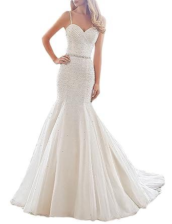 Mingxuerong Brautkleider Hochzeitskleider Prinzessin Meerjungfrau