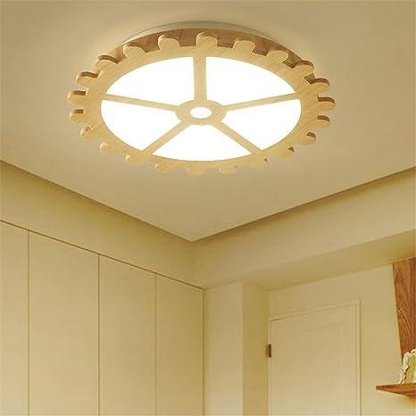 BRIGHTLLT La habitación de los niños luz redondo de madera Hyun luces apagadas luces led tatami