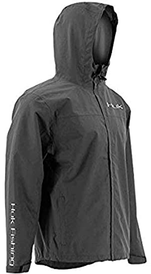 43d97ad91 Huk Men's Packable Rain Jacket, Charcoal Gray, X-Large