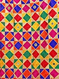 PinkPhulkari California Indian Punjabi Traditional Multi Color Mirror Phulkari Dupatta for Women/Scarf/Decor/Gift/Shawl/Wrap