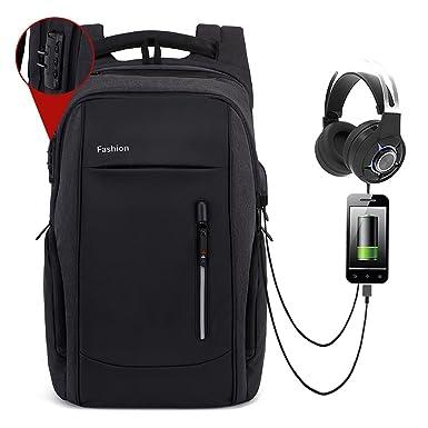 412dfe2d375e Amazon.com  Anti Theft Laptop Backpack