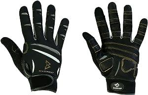 Bionic Gloves Beast Mode Women's Full Finger Fitness/Lifting Gloves w/ Natural Fit Technology, Black (PAIR)