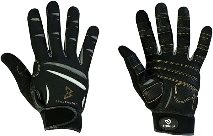 Small The Official Glove of Marshawn Lynch PAIR Bionic Gloves Beast Mode Womens Full Finger Fitness//Lifting Gloves w// Natural Fit Technology Black