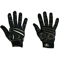 Bionic Gloves Beast Mode Women's Full Finger Fitness/Lifting Gloves w/Natural Fit Technology, Black (PAIR)