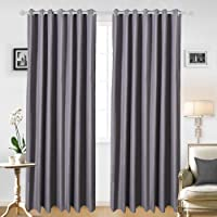 JRing Soft Fabric Thermal Insulated Drapes Blackout Window Curtain Panels