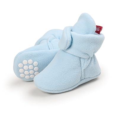 a72a5354b47c Adorel Baby Anti-Slip Booties Fleece Crib Shoes Winter  Amazon.co.uk ...