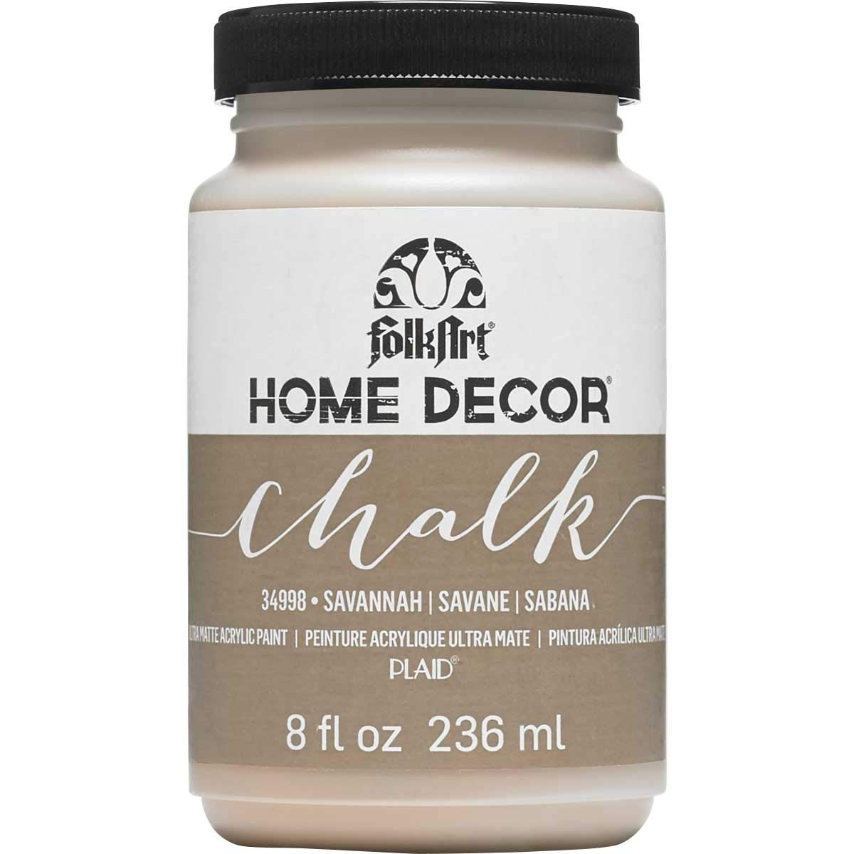 FolkArt Home Decor Chalk Furniture & Craft Paint in Assorted Colors (8 Ounce), 34998 Savannah
