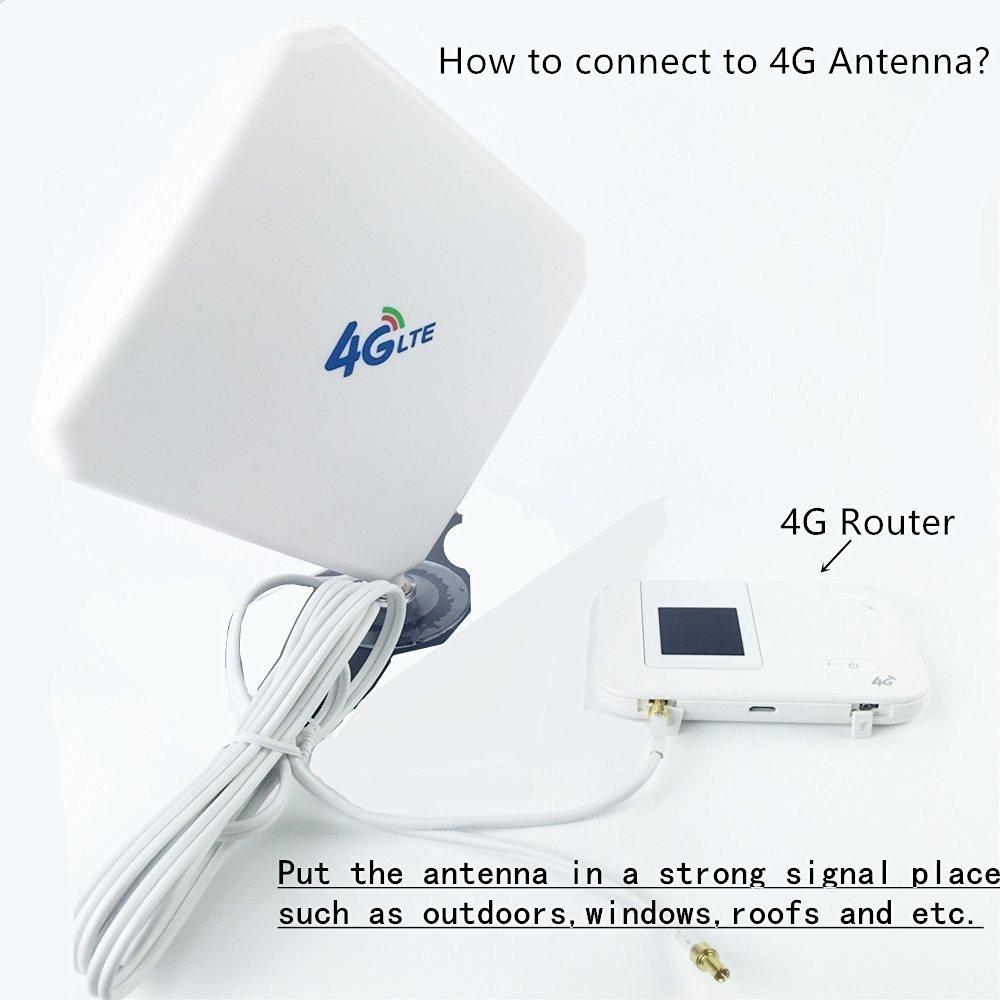 Onesite Conector 4G LTE Antena 35dBi Al aire libre Booster Amplificador de Señal para Huawei B5935 B683 B686 B310 B315 E5172E5175 E5186 EB890 etc(SMA): ...