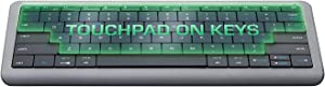 Touchpad Embedded into KeysBluetooth Wireless Keyboard | Auto-Switch Between Keyboard and touchpad Modes | Windows, Mac OS, Android, iOS, Smart TV Keyboard | Multi-Device Rechargeable Keyboard