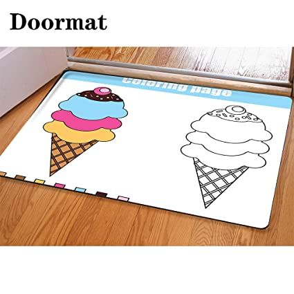 Amazon.com: HooMore 3D Printing and Dyeing,Bathroom Carpet, Door ...