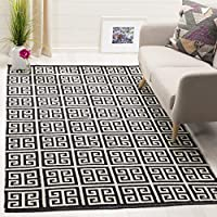 Safavieh Montauk Collection MTK724D Black and Ivory Area Rug (3 x 5)