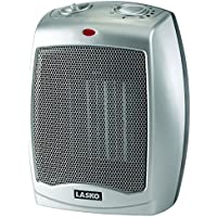 Lasko 754200 Ceramic heater with adjustable thermostat,Silver,1500 Watts