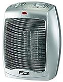 Lasko 754200 Ceramic heater with adjustable thermostat,Silver,1500 Watts Ceramic Heaters