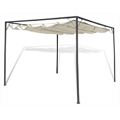 HomyDelight Canopy, Garden Gazebo with Retractable Roof Canopy: Home & Kitchen