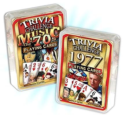 Amazon.com: 1977 Trivia Juego de cartas & 1970 de música ...