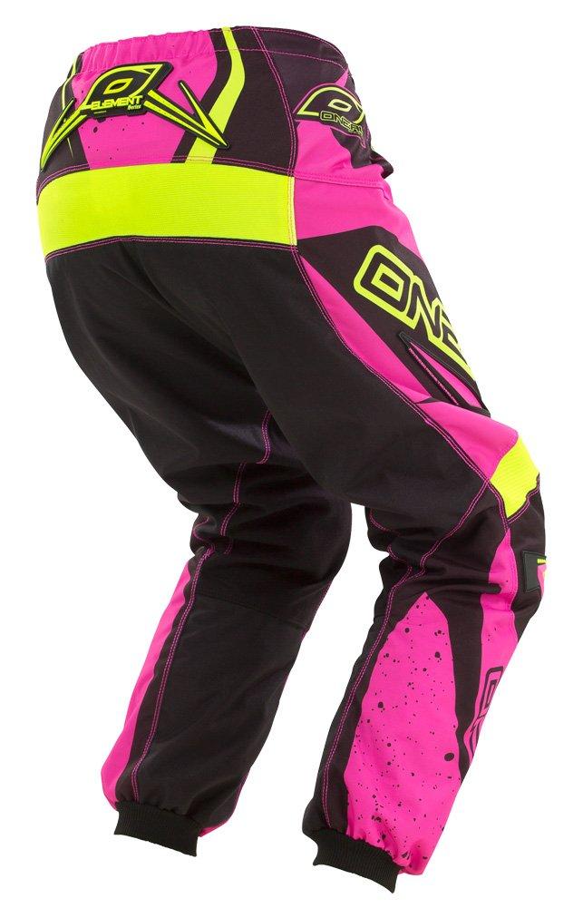 O'Neal Element Womens Racewear Pant (Black/Pink/Hi-Viz, Womens 11/12)