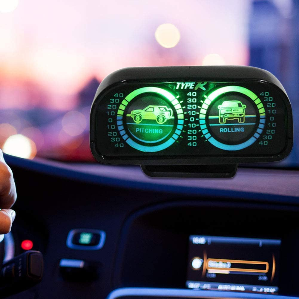Guide Ball Auto LKW Fahrzeuge Auto Kompass Thermometer Multifunktions Ausfl/üge Verstellbare Werkzeuge Ornamente Innenzubeh/ör mit Fahrzeug Neigungsmesser Neigungsmesser Messwerkzeug