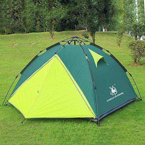 Outdoor-Camping-Zelt 2 -3 Personen-Zelt Doppelstock hydraulische automatische regen Camping Zelten