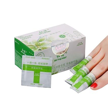RIXTHY 100pcs Removedor de Uñas de Gel,Elimina Esmaltes Permanentes, Gel UV y Acrilico