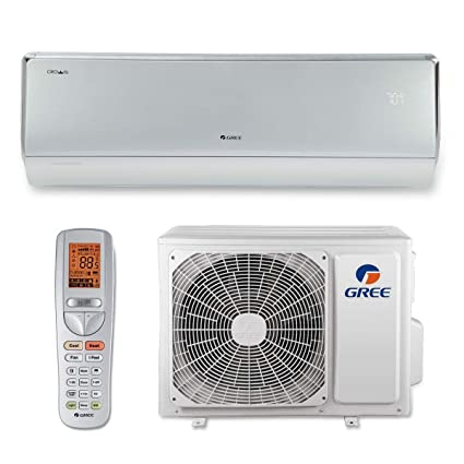 Gree SAP12HP230V1A 12,000 BTU 30.5 SEER Sapphire Wall Mount Ductless Mini Split Air Conditioner Heat Pump 208-230V