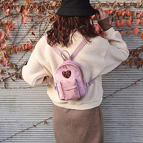 rosa da da Qingxia Borsa unita donna donna tinta viaggio casual coste Letteratura per zaini a Zaino studente da semplice college velluto zi qWwx1BCx