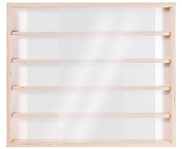 V32 Vitrine Murale 60 X 52 X 6 Cm En Bois De Bouleau Non Traité