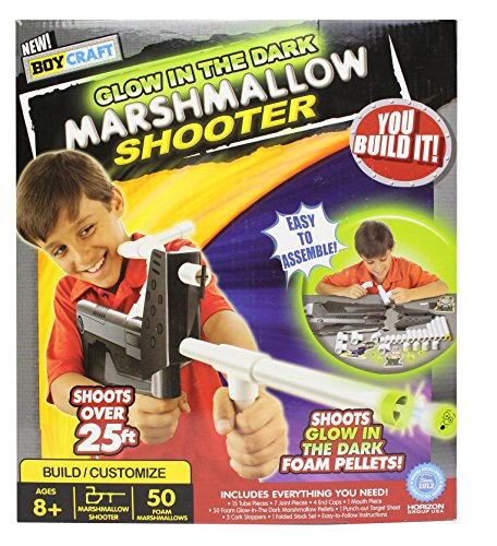 Boy Craft Glow in the Dark Marshmallow Shooter Kit (Making Marshmallow Kit)