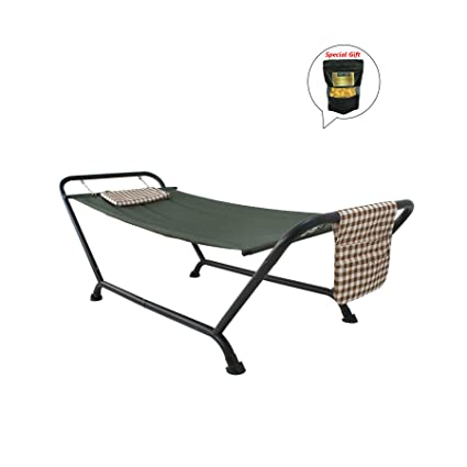 Amazon.com: Hamaca con soporte cojín bolsa de patio porche ...