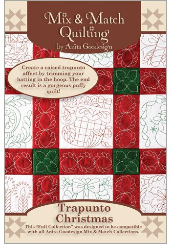 Anita Goodesign - Trapunto Christmas~ Mix and Match Quilting ~ Embroidery Designs